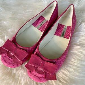 Nine West Pink Nubuck Ballet Flat. Size 7. New.
